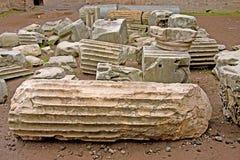 Ruin debris in Rome, Italy Stock Image