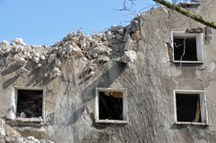 Ruin of demolished house Royalty Free Stock Photos