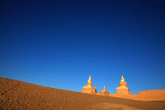 The ruin in desert. This is the ruin of an ancient city in northen Inner Mongolian desert of China Stock Photography