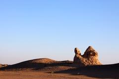 Ruin in desert stock photo