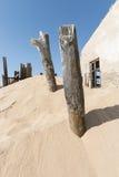 Ruin in the desert Stock Images