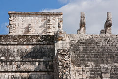 Ruin detail in chichenitza. Yucatan, Mexico royalty free stock photography