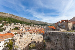 Ruin in Dubrovnik Royalty Free Stock Photography