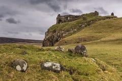 Ruin of Duntulm Castle Skye Stock Photography