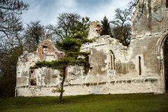 Ruin in English landscape setting Royalty Free Stock Images