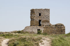 Ruin of Enisala fortress Royalty Free Stock Images