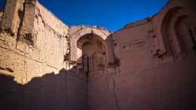 Ruin of Erejep Khalifa mosque aka Clock of world, Mizdakhan, Khodjeyli,Karakalpakstan,Uzbekistan Stock Image