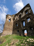 Ruin of european gothic castle Stock Photos