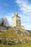 Ruin of the Falkenstein Castle in Koenigstein Royalty Free Stock Images