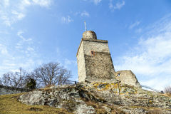Ruin of the Falkenstein Castle in Koenigstein Stock Images