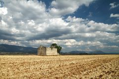 Ruin in the fields Provence, France Stock Images
