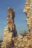 Ruin fortification walls stock photo