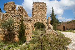 Ruin of fortress on Kefalonia Stock Images