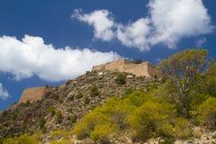 Ruin of fortress on Kefalonia Royalty Free Stock Photos