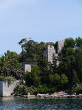 A ruin of a fortress under the subtropical trees Royalty Free Stock Photography