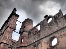 Ruin. A ruin in Germany with dark skies Stock Photography