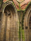 Ruin of gothic cathedral. Inside of the ruin of an old gothic cathedral stock image