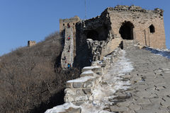 Ruin of great wall in china Royalty Free Stock Photography