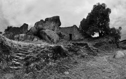 A ruin of the Great Zimbabwe National Park, Africa. Ancient Ruins at Great Zimbabwe national park royalty free stock images