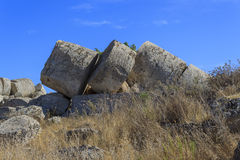 Ruin of Greek Temple Columns - Sicily, Italy Royalty Free Stock Photos