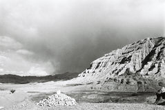 The ruin of Guge Kingdom. Guge is a long lost kingdom in the history of Tibet. There are remains of stupa and monastery.The ruin of ancient Guge Kingdom is Royalty Free Stock Images