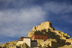 Ruin of Guge kingdom castle. The ruin of Guge kingdom castle in the morning of Tibet, China Stock Photography
