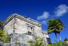 Ruin on the Hill. Ruins on the hill in Tulum, Mexico Stock Photo