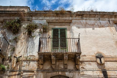 Ruin historic palace in Noto Royalty Free Stock Images