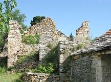 Ruin of a historical village Humac Stock Photos