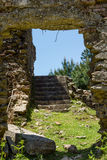 Ruin of a house. The ruin of a house surrounded by nature Stock Photo