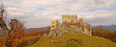 Ruin of Hrušov - castle in Slovakia Royalty Free Stock Photo