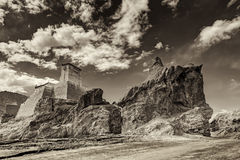 Ruin i Basgo monaster Leh, Ladakh, Jammu & Kaszmir, India Zdjęcia Royalty Free