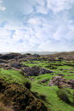 Ruin in irish rocky landscape Royalty Free Stock Photos