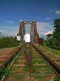 An ruin iron railway bridge Stock Image