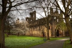 Ruin of Kirkstall Abbey. Leeds,Great Britain Royalty Free Stock Image