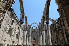 Ruin in Lisbon, Portugal Stock Photos