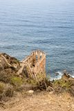 Ruin of Los Realejos on Cliff of Tenerife. Spain royalty free stock photos