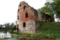Ruin of Manstorpsgavlar near Ostra Grevie, Sweden. This castle, situated between Västra Ingelstad and Östra Grevie, was built in 1540-47 and destroyed by the Stock Photography