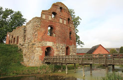Ruin of Manstorpsgavlar, Sweden. This castle, situated between Västra Ingelstad and Östra Grevie, was built in 1540-47 and destroyed by the Danes in 1678 Royalty Free Stock Images