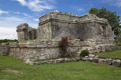 Ruin of a Maya building. In Tulum, Mexico stock image
