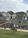 Playa del carmen mexico mayan ruins in tulum. Ruin of the maya people in tulum royalty free stock photography