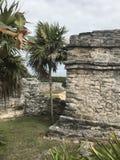 Playa del carmen mexico mayan ruins in tulum. Ruin of the maya people in tulum stock photography