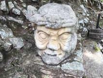 Ruin of Mayan Statue. In Copan, Honduras, known as the Athens of the New World Royalty Free Stock Photo