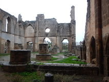 Ruin of mediavel gothic church in famagusta Royalty Free Stock Images