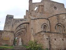 Ruin of mediavel gothic church in famagusta Royalty Free Stock Photos
