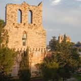 Ruin of mediavel gothic church in famagusta Royalty Free Stock Image