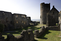 Ruin of medieval castle Muenzenberg royalty free stock photo