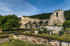 Ruin of a medieval monastery. Or cloister located in Alvastra, Sweden Stock Photo