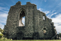 Ruin of a medieval monastery. Or cloister located in Alvastra, Sweden. 900 years old Stock Photo