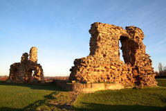 Ruin of medieval Sandal Castle. In Wakefield, Great Britain Royalty Free Stock Photos
